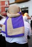 Portador, semana santa en Sevilla, Andalucía, España Imagen de archivo libre de regalías