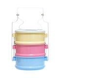 Portadores coloridos de la comida imagen de archivo