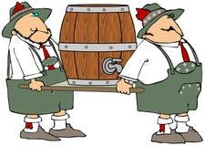 Portadores del barril de cerveza Fotos de archivo