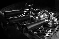Portafilter auf Espressomaschine, Kaffeestube Lizenzfreie Stockfotos