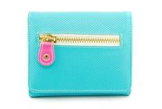 Portafoglio blu Fotografia Stock