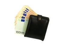 Portafoglio con soldi Fotografia Stock