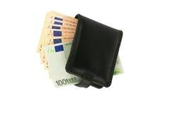 Portafoglio con soldi Fotografie Stock Libere da Diritti