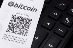 Portafoglio di Bitcoin Immagini Stock