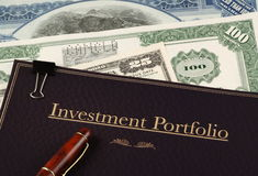 Portafoglio di investimento Immagini Stock Libere da Diritti