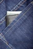 Portafoglio in jeans Immagine Stock Libera da Diritti