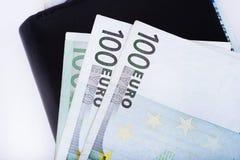 Portafoglio in pieno dell'euro Immagine Stock