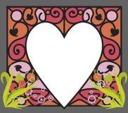 Portafotos corazon. Portafotos colorido con forma de corazon Stock Photos