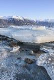 Ломти льда на бухте Portage стоковое фото rf
