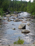 A Portage in the Boundary Waters Canoe Area Royalty Free Stock Images
