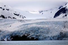 portage för berg alaska för blå glaciär icy royaltyfria foton