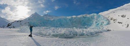 Portage glaciär i vintertid royaltyfri bild