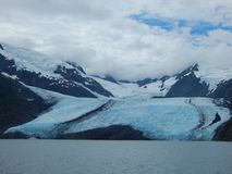 The slow creep of a glacier. stock photography