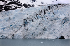Portage Glacier, Blue Ice Water Anchorage Alaska Stock Images