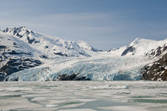 Portage Glacier and ice floes Royalty Free Stock Photo