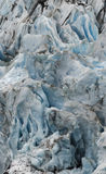 Portage Glacier 3. Glacier ice, seen up close, is spectacular.  Each crack and crevice shines with the exotic shade of blue only seen in ancient ice Stock Image