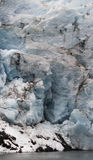 Portage Glacier 1. Glacier ice, seen up close, is spectacular.  Each crack and crevice shines with the exotic shade of blue only seen in ancient ice Royalty Free Stock Photo