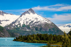 Portage Glacier- Kenai Peninsula- Chugach National Forest- AK. Portage Lake and Glacier area- Portage- Alaska royalty free stock images