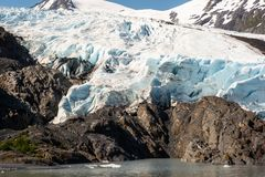 Portage Glacier Terminus stock photos