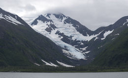 Portage Lake glaciers and Lake Stock Photos