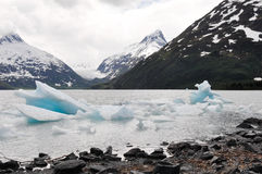 Portage lake with iceberg, Alaska Stock Photos
