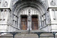Portail d'église gothique Photo libre de droits