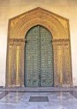 Portail de bronze de cathédrale de Monreale Photographie stock libre de droits