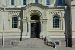 Portail de dos de St Nicholas Naval Cathedral dans Kronstadt, St Petersburg, Russie Photo libre de droits