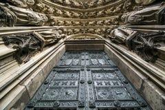 Portail du nord à la cathédrale de Cologne, Allemagne Photographie stock