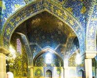 Portail en tant qu'élément de mosquée de jameh à Isphahan - en Iran photographie stock
