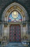 Portail gothique massif image libre de droits