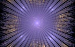 Portail lilas dans l'inconnu Image libre de droits