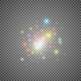 Portail magique d'imagination Futuriste déplacez par télépathie Effet de la lumière Bougies bleues de rayons d'une scène de nuit  illustration de vecteur