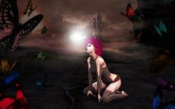 Portail magique de Butterly d'imagination au monde des fées illustration libre de droits