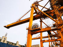 Portainer For Load and Unload From Container Ship Stock Photography