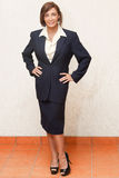 Portairts: Businesswoman or teacher Royalty Free Stock Images