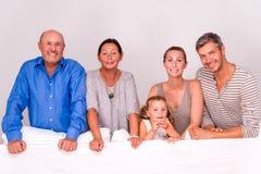 Portait семьи поколения Стоковое Изображение