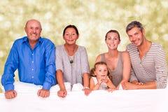 Portait семьи поколения Стоковая Фотография