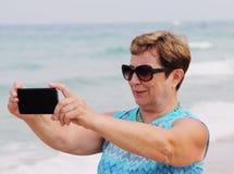 Portait счастливой старшей женщины Стоковая Фотография