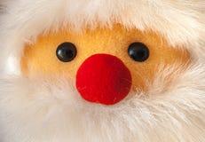 Κινηματογράφηση σε πρώτο πλάνο portait Άγιου Βασίλη με την κόκκινη μύτη Στοκ φωτογραφία με δικαίωμα ελεύθερης χρήσης