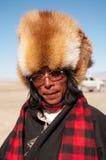 Portait av den tibetana mannen Royaltyfria Bilder