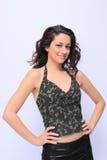 Portait of a beautiful brunette woman stock photo