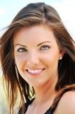 Portait of Beautiful Brunette Woman Stock Images