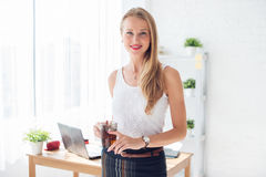 Portait of beautiful successful business woman Royalty Free Stock Image
