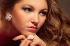 Portait beautiful young woman Stock Images
