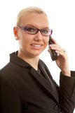 Portait of business woman on the phone Royalty Free Stock Photos