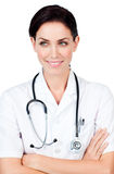 Portait of a confident Female doctor Royalty Free Stock Photos