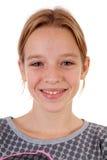 Portait d'adolescente avec des pimpels Photo stock