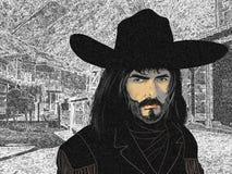 Portait de um cowboy Imagens de Stock Royalty Free
