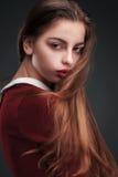 Portait del estudio de la moda de la muchacha de la belleza Imagen de archivo libre de regalías